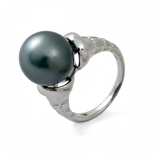 Кольцо из серебра 925 пробы с морским жемчугом
