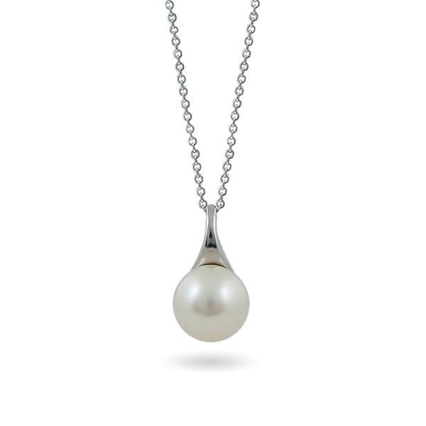 Кулон из серебра 925 с натуральным жемчугом