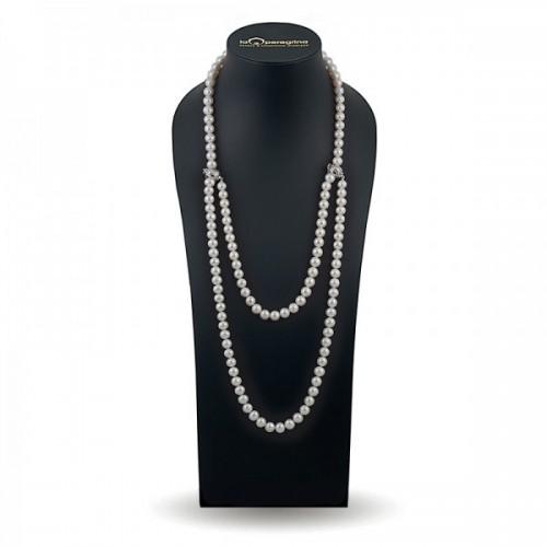 """Ожерелье из натурального жемчуга с замками """"перехватами"""""""