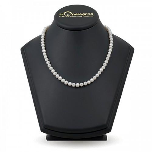 Ожерелье из натурального пресноводного жемчуга белого цвета