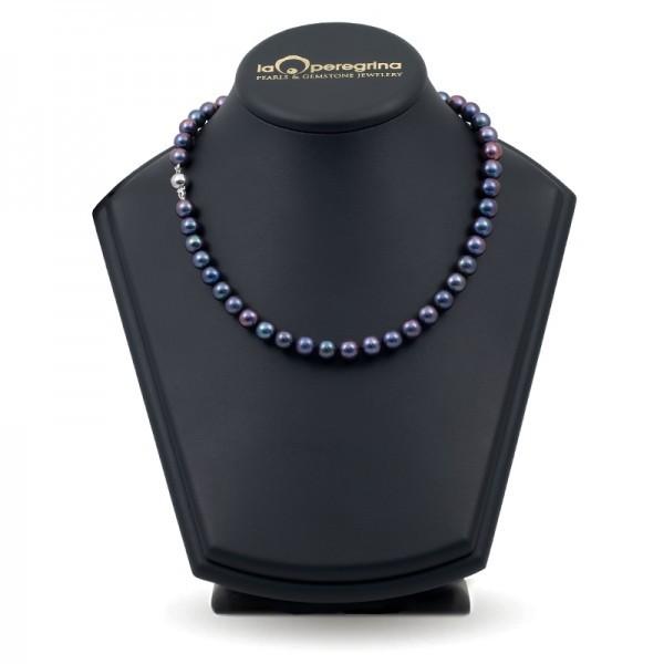 Ожерелье из натурального жемчуга черного цвета