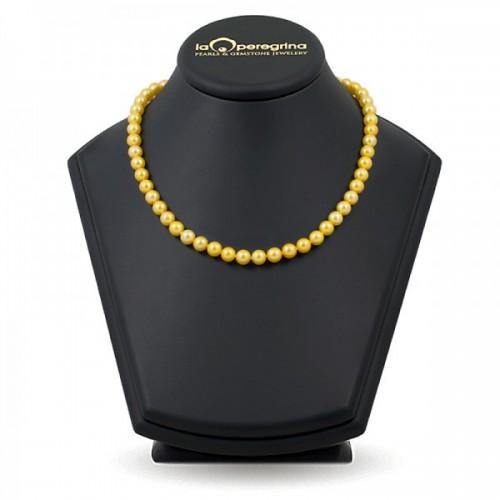 Ожерелье из жемчуга золотого цвета