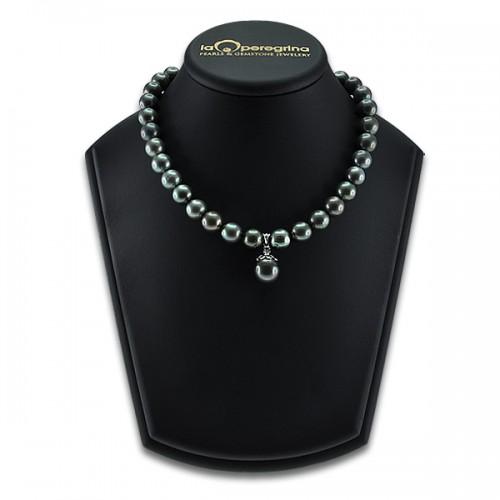 Ожерелье из морского таитянского жемчуга с подвеской