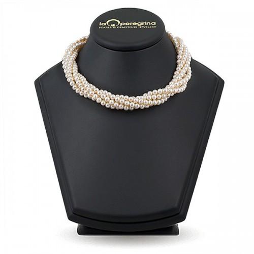 Ожерелье из семи нитей белого жемчуга