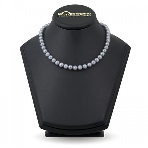 Ожерелье из натурального жемчуга цвета металлик