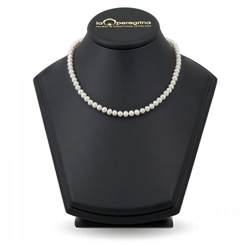 Ожерелье из натурального жемчуга белого цвета
