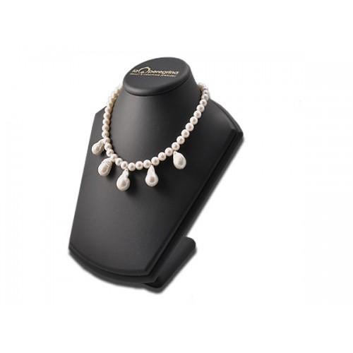 Ожерелье из белого пресноводного жемчуга с барочными жемчужинами