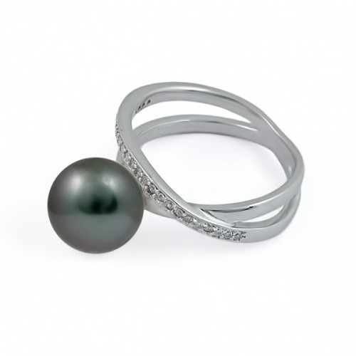Кольцо из серебра 925 пробы с морским жемчугом таити