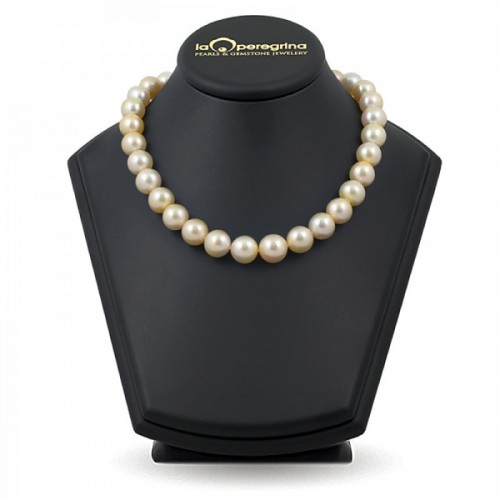 """Ожерелье из жемчуга Южных морей цвета """"шампань"""""""
