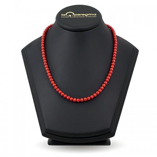 Ожерелье из натурального средиземноморского коралла