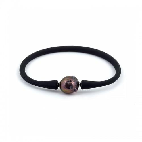 Каучуковый браслет с пресноводной жемчужиной