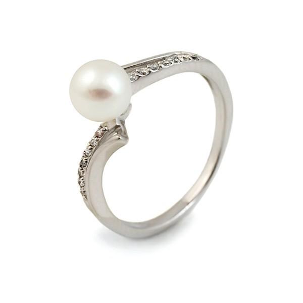 Кольцо из серебра 925 с натуральным жемчугом