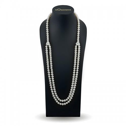 Ожерелье из белого жемчуга 140 см