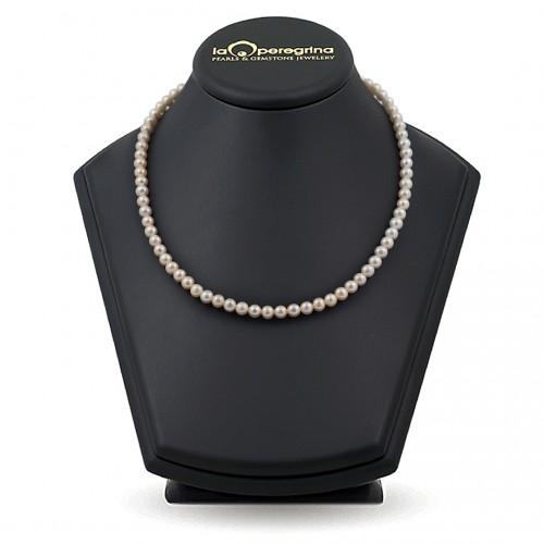 Ожерелье из натурального пресноводного розового жемчуга