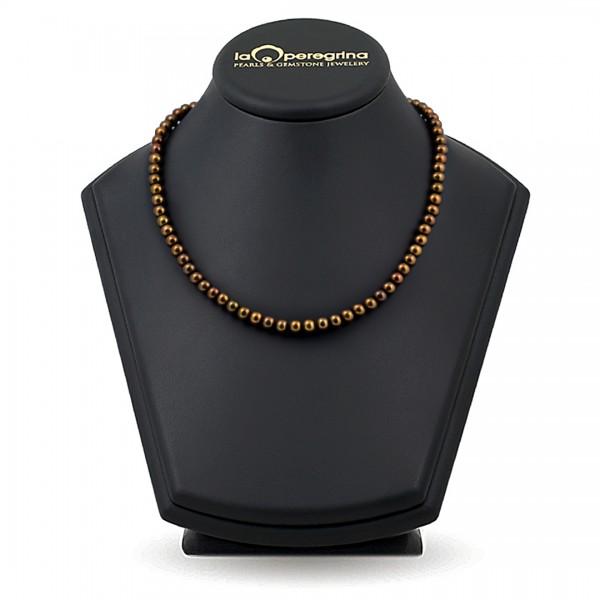 Ожерелье из жемчуга шоколадного цвета