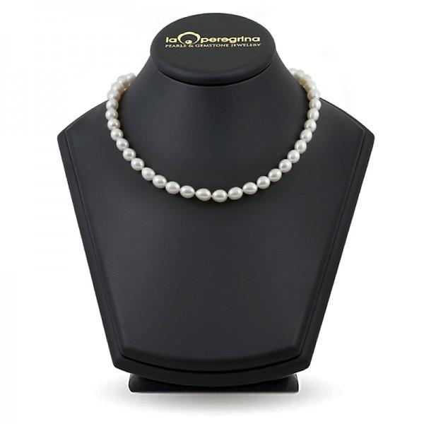 Ожерелье из натурального жемчуга борокко белого цвета