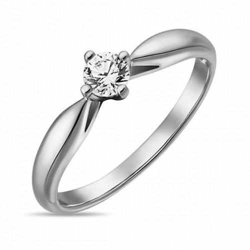 Кольцо из золота 585 пробы с бриллиантом