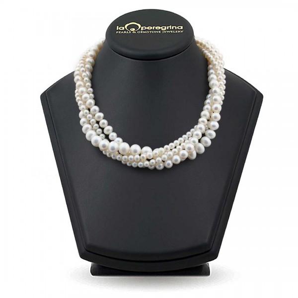 Ожерелье из четырех нитей белого жемчуга