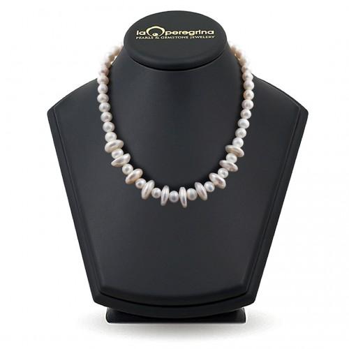 Ожерелье из белого жемчуга барокко