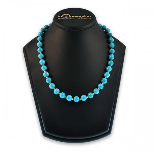 Ожерелье из бирюзы со вставками