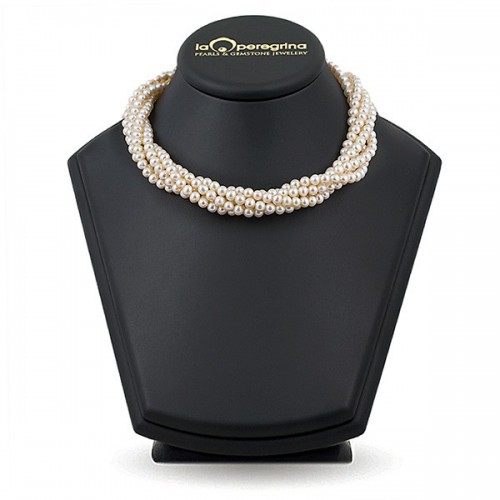 Ожерелье из пяти нитей белого жемчуга