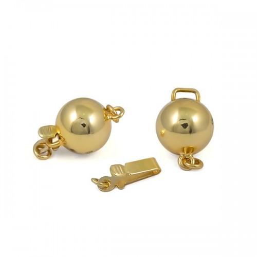 Замок для колье из золота 375 пробы, 8 мм