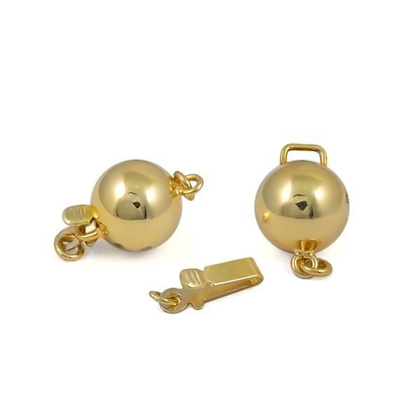 Замок для колье из золота 375 пробы, 9 мм