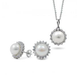 Комплекты из серебра 925 с жемчугом